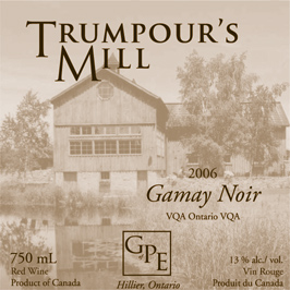 The Grange of Prince Edward Estate Winery 2006 Trumpour's Mill Gamay Noir  (Prince Edward County)