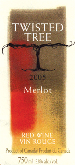 Wine:Twisted Tree Vineyards and Winery 2005 Merlot  (Okanagan Valley)