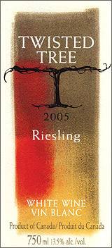 Wine:Twisted Tree Vineyards and Winery 2005 Riesling  (Okanagan Valley)