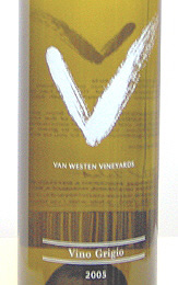 Van Westen Vineyards Vino Grigio