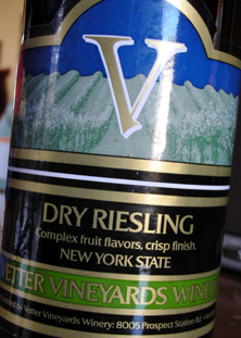 Wine:Vetter Vineyards 2005 Dry Riesling  (New York)
