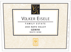 Wine: Volker Eisele Family Estate 2005 Gemini  (Chiles Valley)