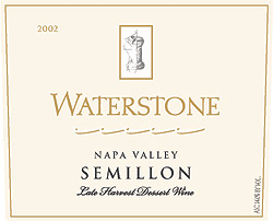 Waterstone Winery 2002 Late Harvest Semillon  (Napa Valley)