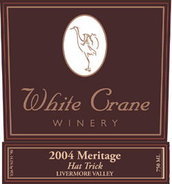 "Wine:White Crane Winery 2004 Meritage ""Hat Trick""  (Livermore Valley)"