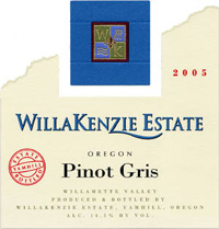 Willakenzie Estate Winery  2005 Pinot Gris  (Willamette Valley)