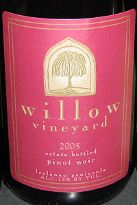 Willow Vineyard 2005 Pinot Noir  (Leelanau Peninsula)