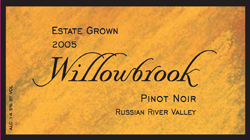 Willowbrook Cellars 2005 Pinot Noir, Estate Grown (Russian River Valley)