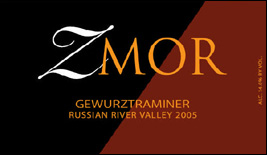 Wine:ZMOR Winery 2005 Dry Gewurtztraminer, Martinelli Vineyard (Russian River Valley)