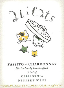 Wine:Alicats Winery 2005 Passito di Chardonnay  (Cienega Valley)