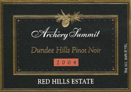 Wine:Archery Summit 2004 Pinot Noir, Red Hills Estate (Dundee Hills)