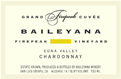 Baileyana Winery 2005 Chardonnay Cuvee, Firepeak Vineyard (Edna Valley)