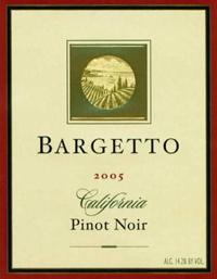 Wine:Bargetto Winery 2005 Pinot Noir  (California)