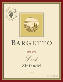 Bargetto Winery 2005 Zinfandel  (Lodi)