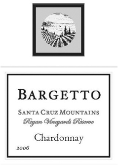 Bargetto Winery 2006 Reserve Chardonnay, Regan Vineyards (Santa Cruz Mountains)