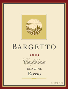 Bargetto Winery 2005 Rosso  (California)