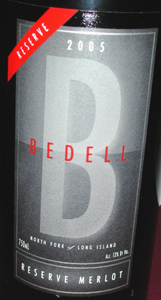 Bedell Cellars 2005 Reserve Merlot  (North Fork of Long Island)