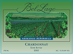 Wine:Bel Lago Winery & Vineyards 2005 Chardonnay, Estate (Leelanau Peninsula)