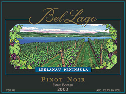 Wine:Bel Lago Winery & Vineyards 2003 Pinot Noir, Estate (Leelanau Peninsula)