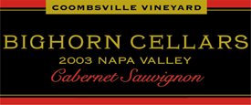 Bighorn Cellars 2003 Cabernet Sauvignon, Coombsville Vineyard (Napa Valley)