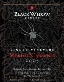 Black Widow Winery 2005 Merlot-Cabernet, Naramata Bench Vineyard (Okanagan Valley)