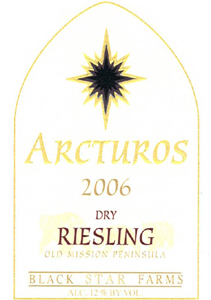 Black Star Farms 2006 Arcturos Dry Riesling  (Leelanau Peninsula)