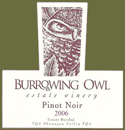 Burrowing Owl Vineyards 2006 Pinot Noir  (Okanagan Valley)