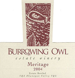 Burrowing Owl Vineyards 2004 Meritage  (Okanagan Valley)