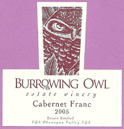 Burrowing Owl Vineyards 2005 Cabernet Franc  (Okanagan Valley)