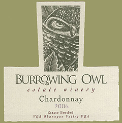 Burrowing Owl Vineyards 2006 Chardonnay  (Okanagan Valley)