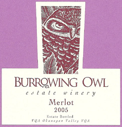 Burrowing Owl Vineyards 2005 Merlot  (Okanagan Valley)