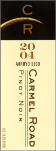 Wine:Carmel Road Winery 2004 Pinot Noir  (Arroyo Seco)