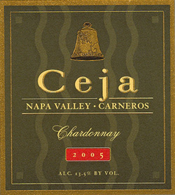 Ceja Vineyards 2005 Chardonnay  (Carneros )