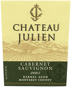 Chateau Julien Wine Estate 2005 Barrel Aged Cabernet Sauvignon  (Monterey County)
