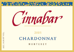 Wine:Cinnabar Vineyard and Winery 2005 Chardonnay  (Monterey)
