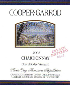 Cooper-Garrod Estate Vineyards 2003 Chardonnay, Gravel Ridge Vineyard (Santa Cruz Mountains)