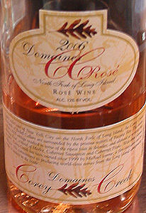 Wine:Corey Creek Vineyards 2006 Domaines CC Rosé  (North Fork of Long Island)