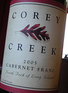 Corey Creek Vineyards 2005 Cabernet Franc  (North Fork of Long Island)