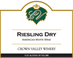Crown Valley Winery 2005 Riesling Dry  (America)