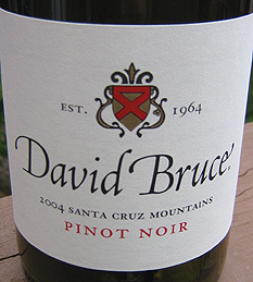 David Bruce Winery 2004 Pinot Noir  (Santa Cruz Mountains)