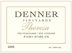 Wine:Denner Vineyards & Winery 2005 Theresa  (Paso Robles)