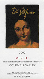 DiStefano Wines 2002 Merlot  (Columbia Valley)