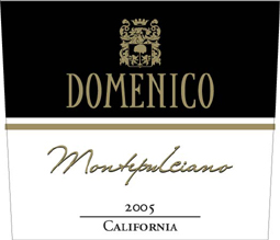 Domenico Wines 2005 Montepulciano  (California)