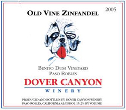 Dover Canyon Winery 2005 Old Vine Zinfandel, Dusi Vineyards (Paso Robles)