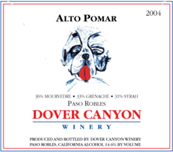 Wine: Dover Canyon Winery 2004 Alto Pomar  (Paso Robles)