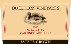 Wine:Duckhorn Vineyards 2003 Cabernet Sauvignon, Estate (Napa Valley)