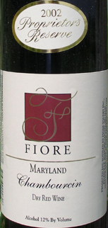 Fiore Winery 2004 Chambourcin Proprietor's Reserve  (Maryland)