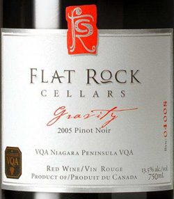 Wine:Flat Rock Cellars 2005 Gravity Pinot Noir  (Niagara Peninsula)