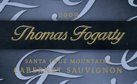 Thomas Fogarty Winery 2003 Cabernet Sauvignon  (Santa Cruz Mountains)