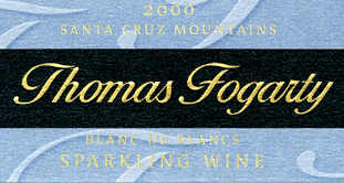 Thomas Fogarty Winery 2000 Blanc de Blancs  (Santa Cruz Mountains)