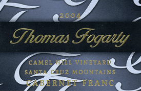 Thomas Fogarty Winery 2003 Cabernet Franc, Camel Hill Vineyard (Santa Cruz Mountains)